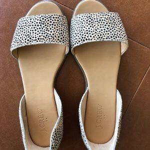Jcrew leopard sandal size 6